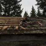 off grid living, tearing off a roof