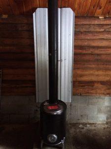 wood stove wall shield